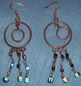 Copper-earrings